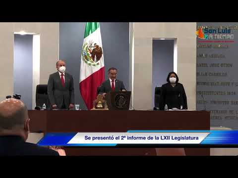 Presentaron el segundo informe de actividades de la LXII Legislatura