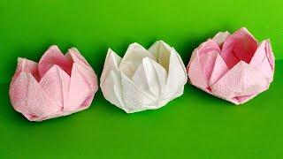 як зробити квітку лотос з серветок своїми руками