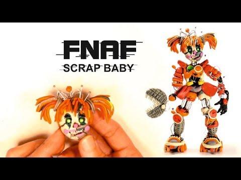 Scrap Baby - FNAF 6 from Clay ✿ Как слепить Скрэп Бэйби из пластилина
