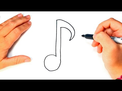 How to draw a Musical Note Step by Step