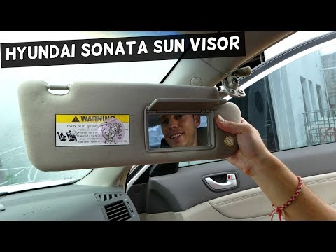 HOW TO REMOVE AND REPLACE SUN VISOR ON HYUNDAI SONATA