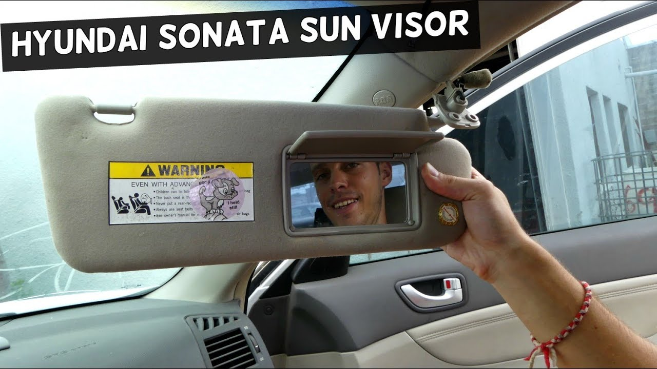 HOW TO REMOVE AND REPLACE SUN VISOR ON HYUNDAI SONATA - YouTube 60f6e35b5e6