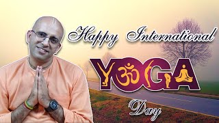 Happy International Yoga day || HG Amogh Lila Prabhu