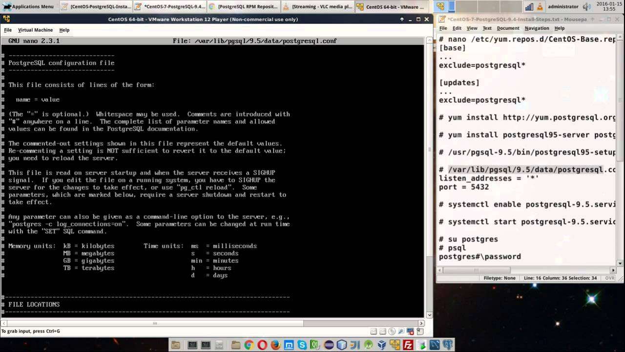 CentOS 7, PostgreSQL 9 5 Installation From PostgreSQL Yum Repository