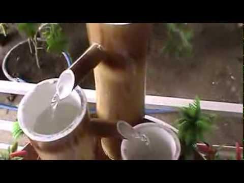 Fonte de Bambu para decoração de ambientes abertos e fechados