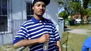 sKy loC chillin outside with a wannabe Crip cheerleader in the baccground,(funny)