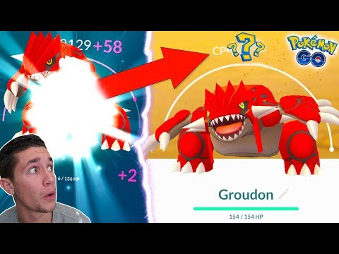 Download Youtube: FIRST EVER LEGENDARY OVER 4,000 CP! MAXING OUT GROUDON IN POKÉMON GO!