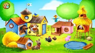 ЖИВОТНЫЕ НА ФЕРМЕ Ухаживаем за Домашними Животными Развивающий Мультик Игра для Детей