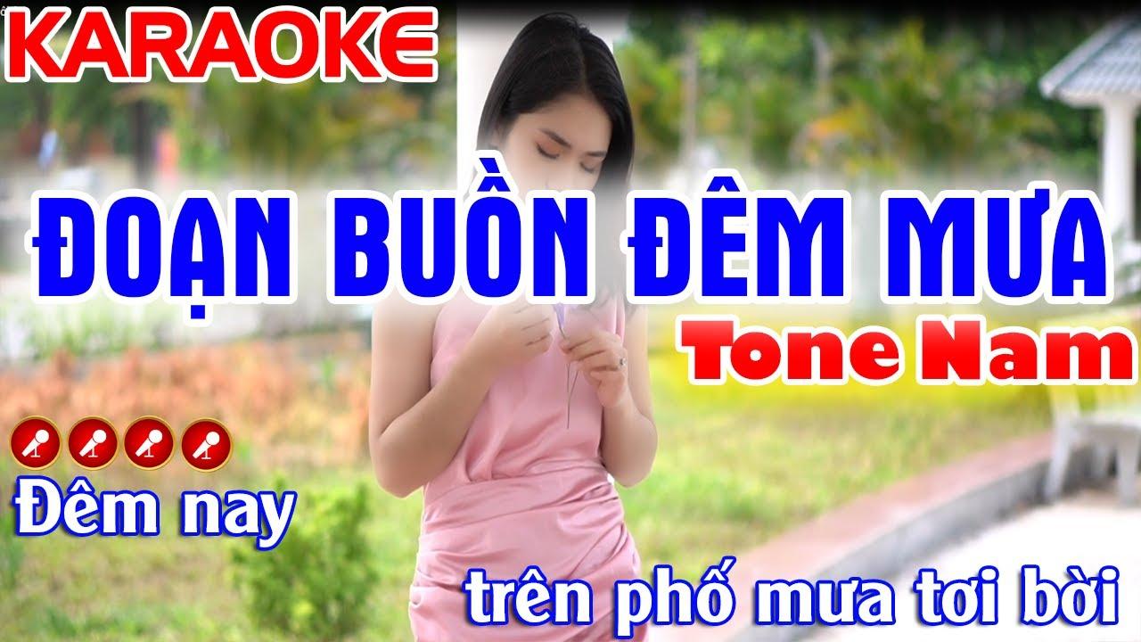 Đoạn Buồn Đêm Mưa Karaoke Nhạc Sống Tone Nam ( Siêu Phẩm Sến Tình ) - Tình Trần Organ