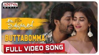 #AlaVaikunthapurramuloo - ButtaBomma Full Video Song (4K) | Allu Arjun | Trivikram | Thaman S |#AA19