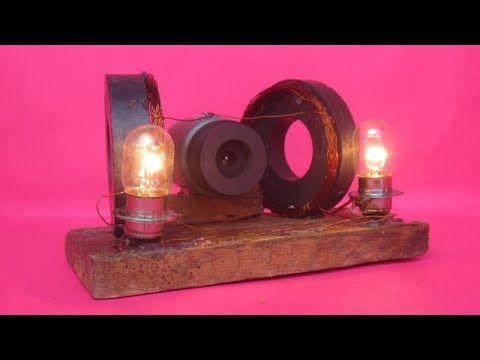How to make free energy device with magnets light bulbs - free energy 100%