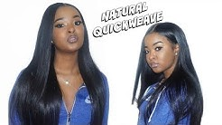 QUICK WEAVE WITH NO LEAVE OUT USING BONDING GLUE - HJ WEAVE BEAUTY | Pitts Twins
