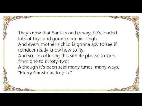 Download John Denver - The Christmas Song Chestnuts Roasting on an Open Fire DVD Lyrics
