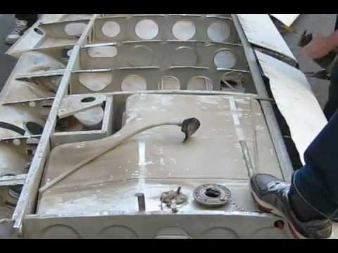 Cessna Wing Disassembly time lapse