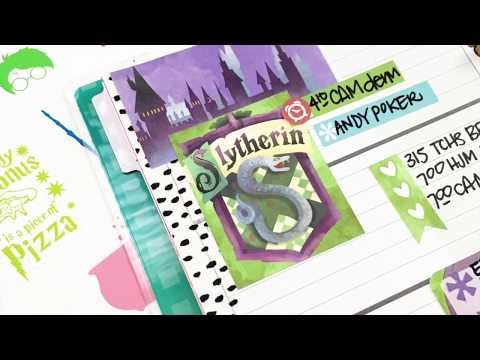 Plan With Me February 19-25, 2018 [Create 365 mini Happy Planner® Harry Potter Stickers How To]