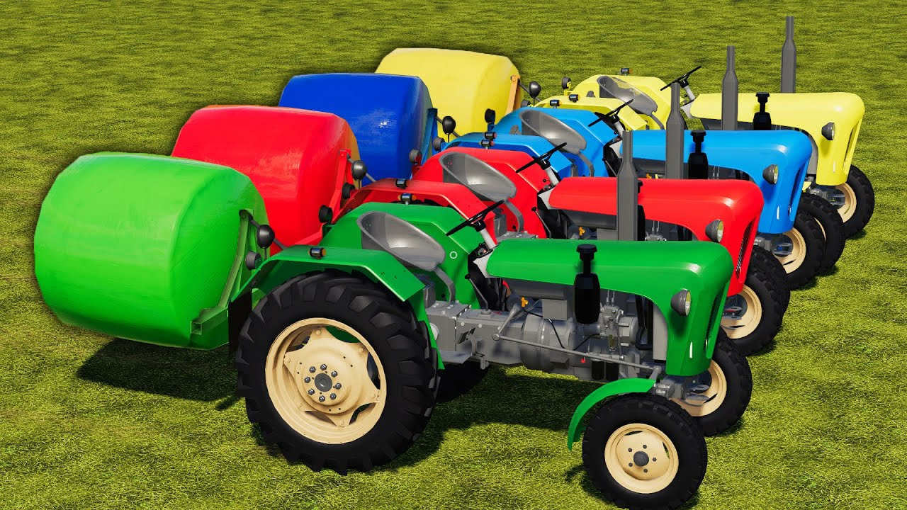 COUNTRY OF COLORS ! HAY SILAGE BALING MAKING & SELLING WITH URSUS TRACTOR ! Farming Simulator 19