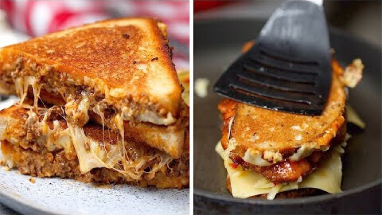 4 Delicious Grilled Cheese Sandwich Recipes Youtube