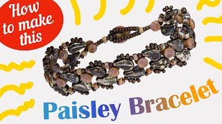 How to make this Hopscotch bracelet | Paisley Duo Seed Beads Design