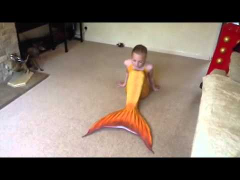 & Showing you my swimmable mermaid tail - YouTube