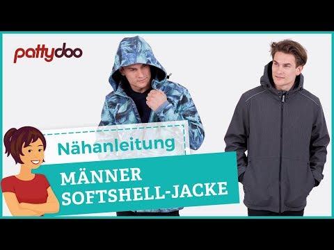 Anleitung Softshelljacke mit abnehmbarer Kapuze, Taschen und
