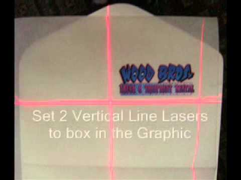 Laser Targeting Systems On A Manual Screen Printing Press