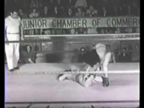 Ida Mae Martinez vs Terry Majors 1950's TV Wrestling From Holloywood female ladies women's lady