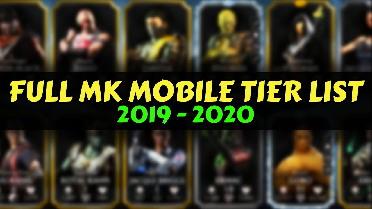 Mkx Tier List 2020.Mk Mobile Ranking Every Character In The Game Contribute To Public Mkx Mobile Tier List 2019