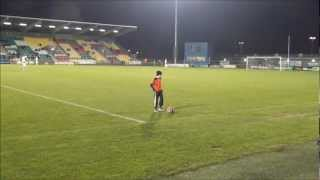 Ciaran Duffy age 8 Mini Messi Performs Half Time at Shamrock Rovers Stadium Dublin Ireland