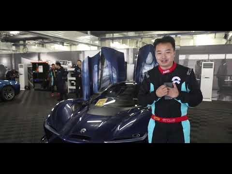 Weilai EP9 sports car in Shanghai EP Club