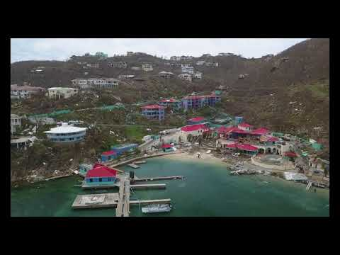 Leverick Bay, British Virgin Islands before and after Hurricane Irma