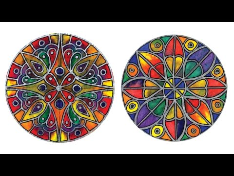 "Color Diffusing Paper ""Stained Glass"" Rose Window - Project #109"