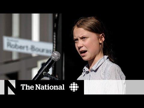 Greta Thunberg gets mixed reaction upon arrival in Alberta