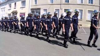 Défilé du Congrès Départemental des Sapeurs-Pompiers du Cher à Saint Martin d'Auxigny