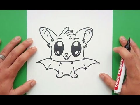 Como dibujar un murcielago paso a paso 9 | How to draw a bat 9 - YouTube