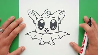 Como dibujar un murcielago paso a paso 9 | How to draw a bat 9