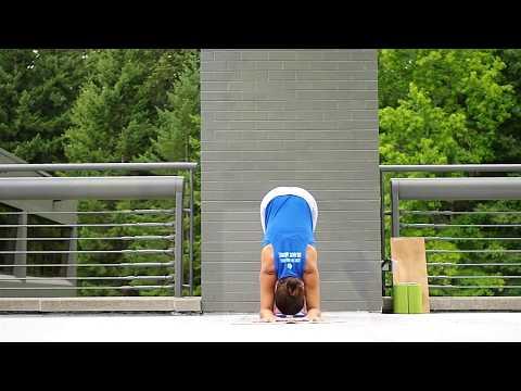 Dolphin Tutorial | YogaSlackers 12 Days of Handstands
