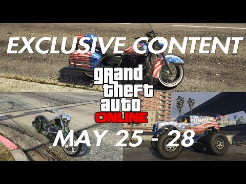 GTA ONLINE - EXCLUSIVE LIMITED TIME CONTENT MAY 25 - 28