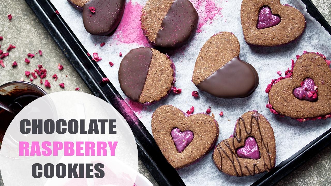 Chocolate Raspberry Sandwich Cookies -Valentine's Day ...