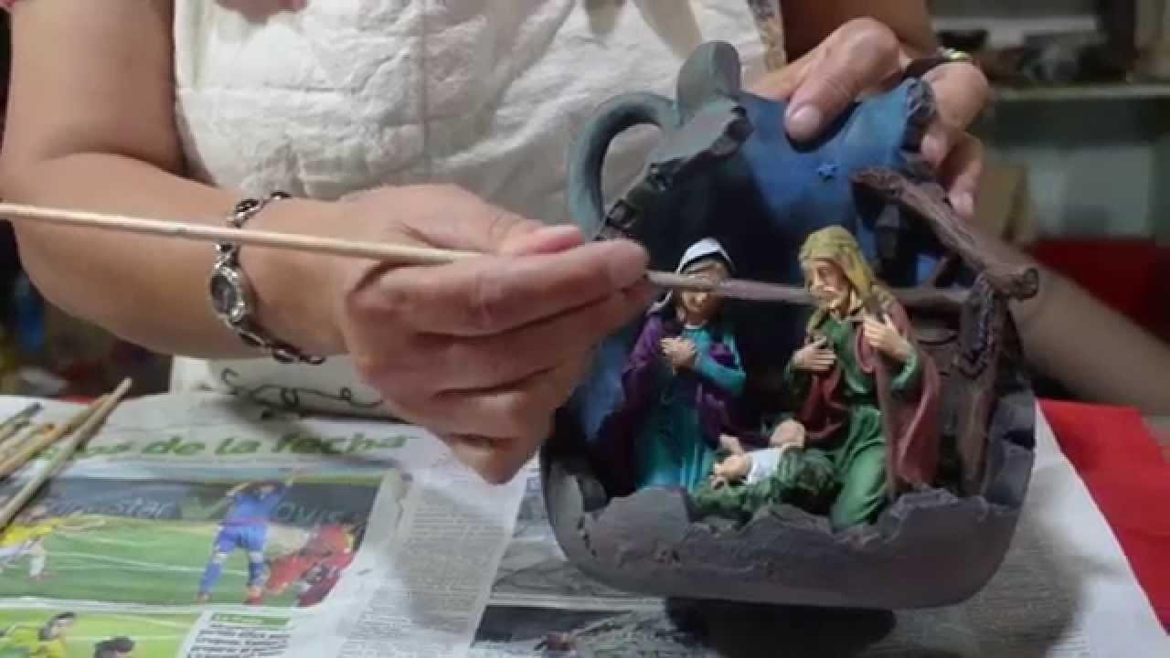 Pesebre en ceramica pintado tutorial doovi for Bizcochos de ceramica