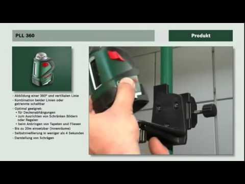 k ov laser bosch pll 360 training film de youtube