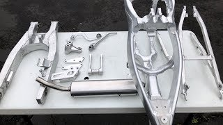 Shining and Cleaning Up Dirt Bike Parts Like a Professional / Build Part 6