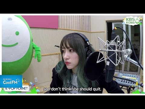 직캠 라디오 케이팝 플래닛 DJ되다 : EXID 하니 CAM / 151227[K-POP PLANET_ENG SUB]