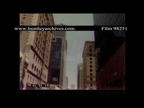 Los Angeles.  U.S.A.  Streets and Skyscrapers.  Archive film 98251