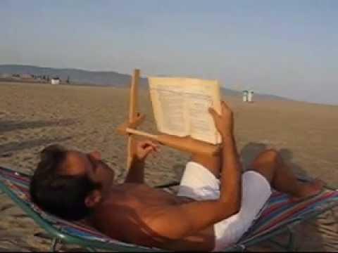 LEGGIO DA LETTO DA SPIAGGIA CAMBIO PAGINA 1wmv  YouTube