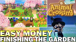 Easy Money & Best Tarantula Method, & Finishing The Garden In Animal Crossing New Horizons!