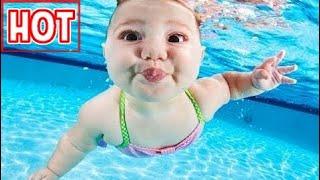 Tập bơi cho  bé cực kỳ dễ thương