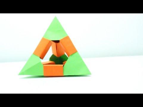 Tetraedro De Origami / Origami Tetrahedron