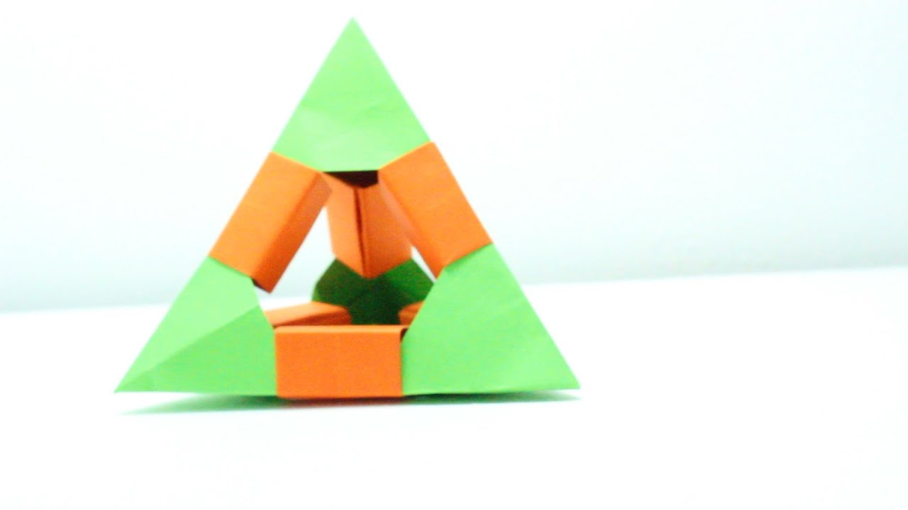 tetraedro de origami origami tetrahedron youtube