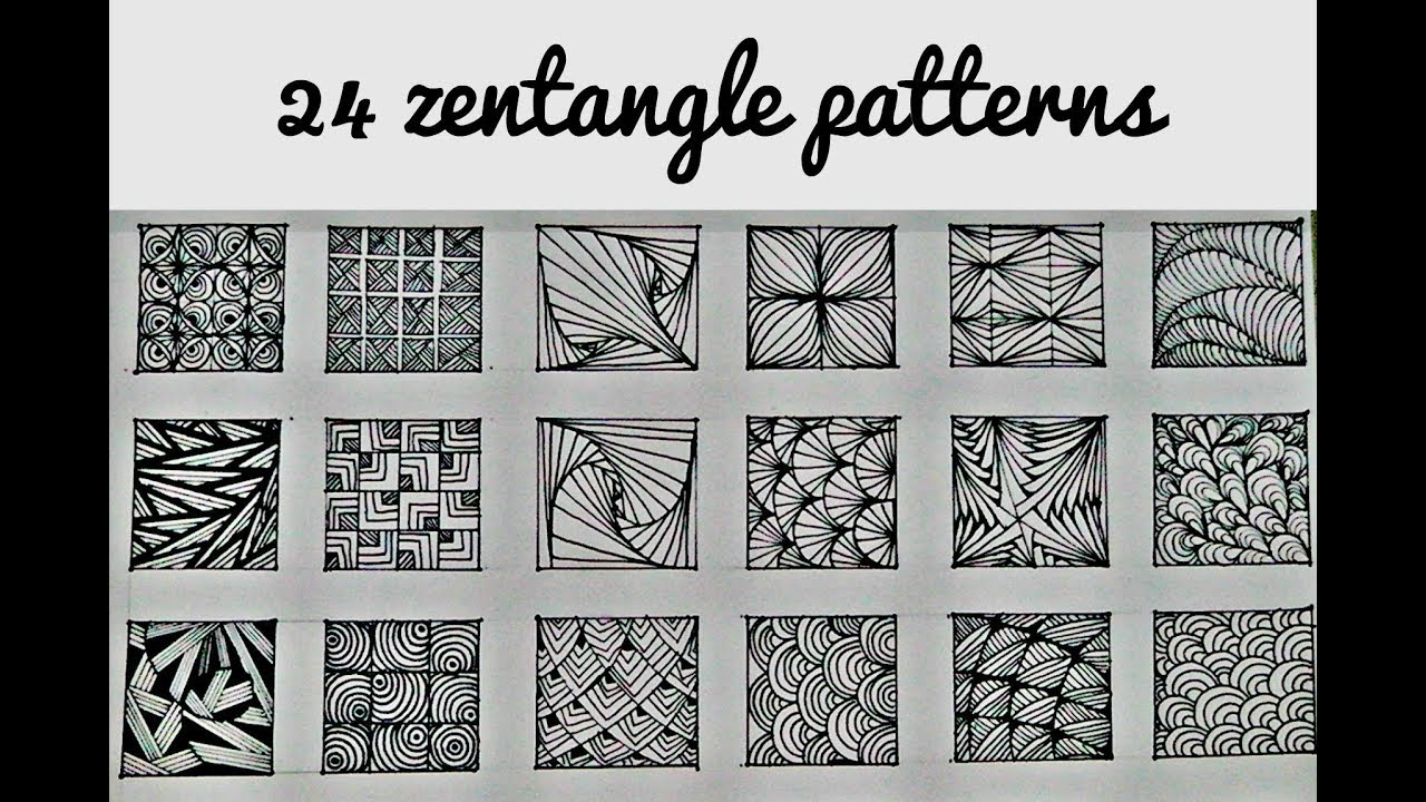 Zentangle Pattern Simple Inspiration Design