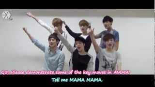[ENG/HD] 120502 EXO-M Album MAMA Promotion Interview 宣传影片